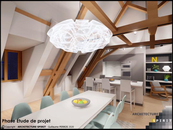 Projet 53, Besançon – Combles